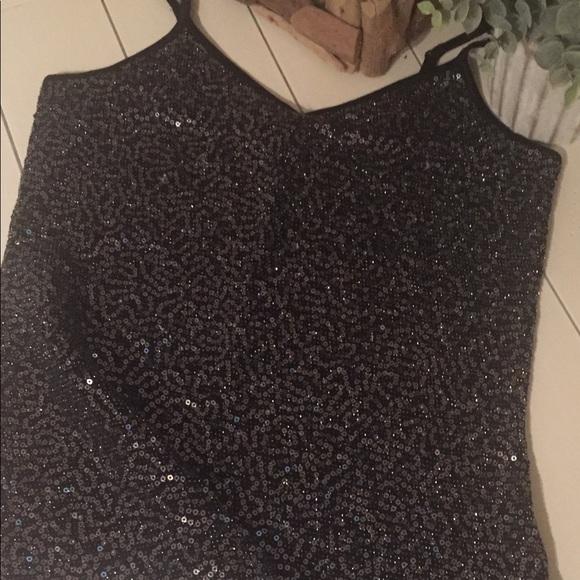 Express Tops - Express Black Sequin Cami